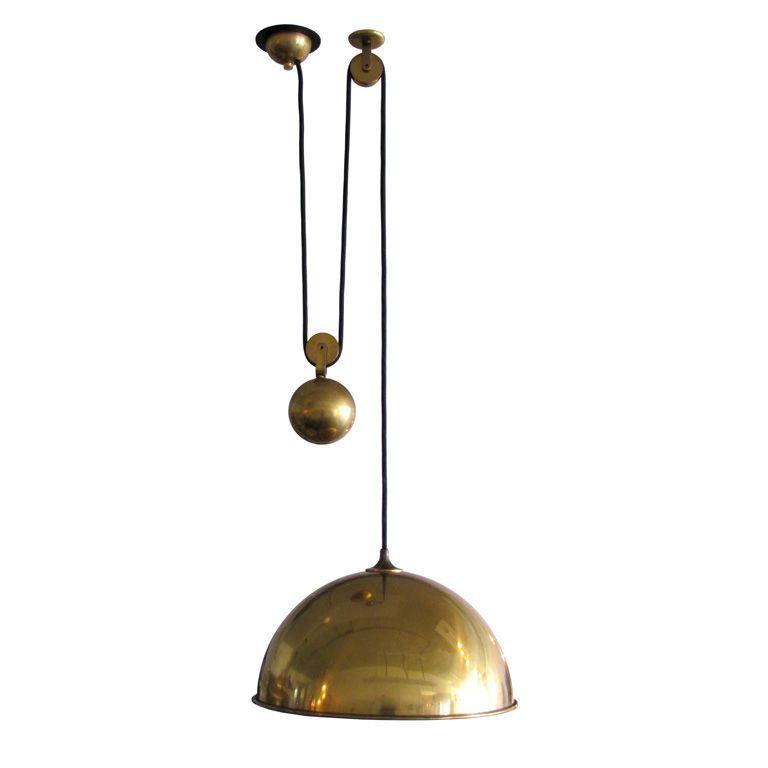 "Smartwares Industrial Es Pendant Light Black Bronze: Florian Schulz ""Posa"" Pendant Germany 1960's Beautiful"