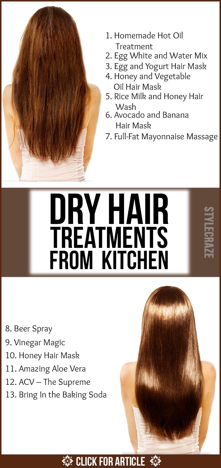 Dry Hair Treatments From Your Kitchen hair Pinterest Hair