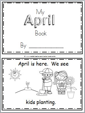Free April Mini Book for Kindergarten Reading | April | Kindergarten ...