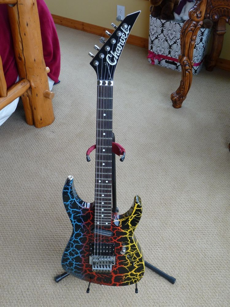 charvel jackson fusion deluxe rainbow crackle 24 3 4 scale good condition electric guitars. Black Bedroom Furniture Sets. Home Design Ideas