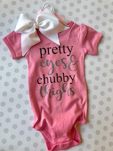 2155-Pretty Eyes Chubby Thighs Baby Onesie