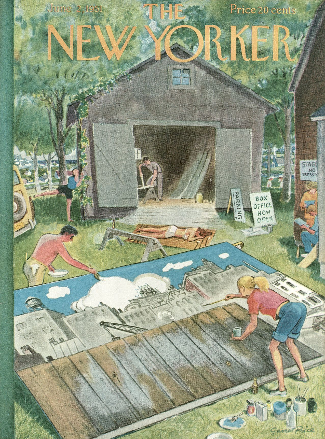 The New Yorker - Saturday, June 2, 1951 - Issue # 1372 - Vol. 27 - N° 16 - Cover by : Garrett Price
