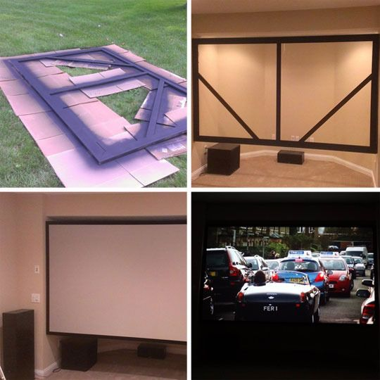 Creating A Home Theater Room: Stretching It: Make Your Own 128″ DIY Spandex Movie Screen