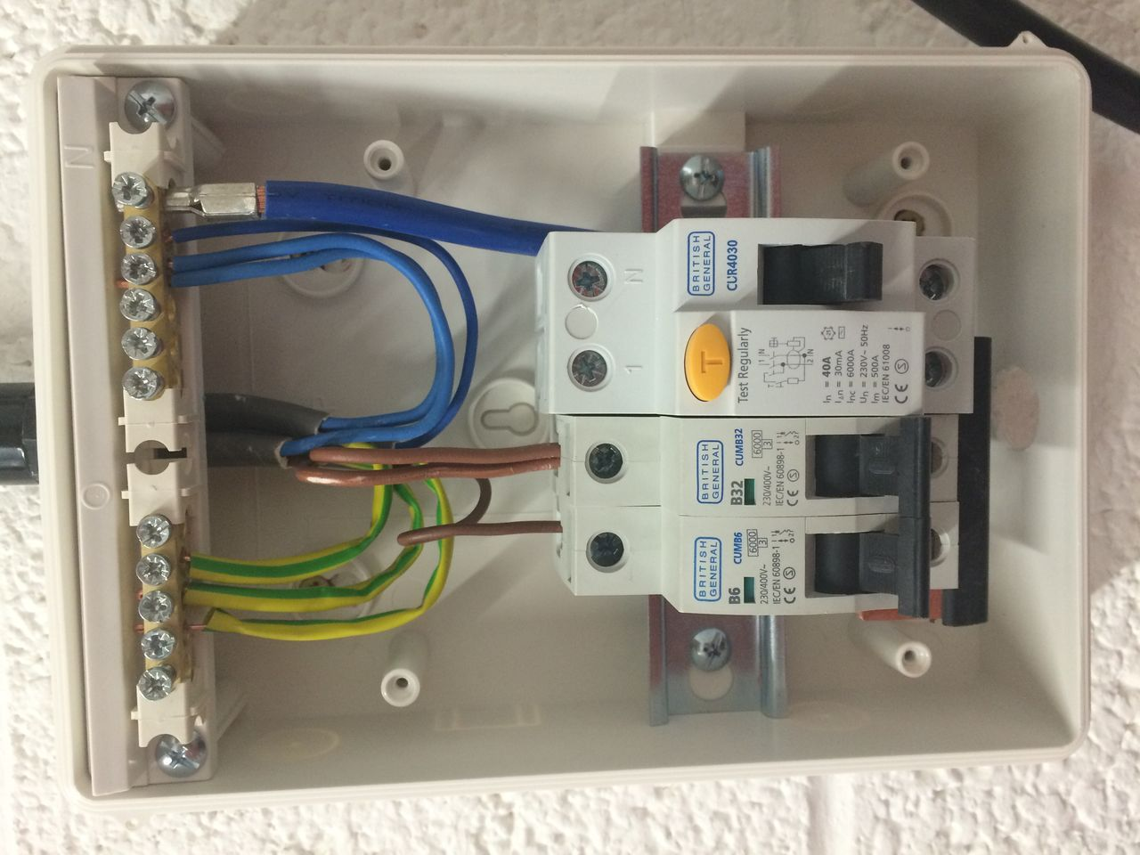 Home Wiring Fuse Box Library Built Image Result For How To Wire Garage Distribution Board House Electrical
