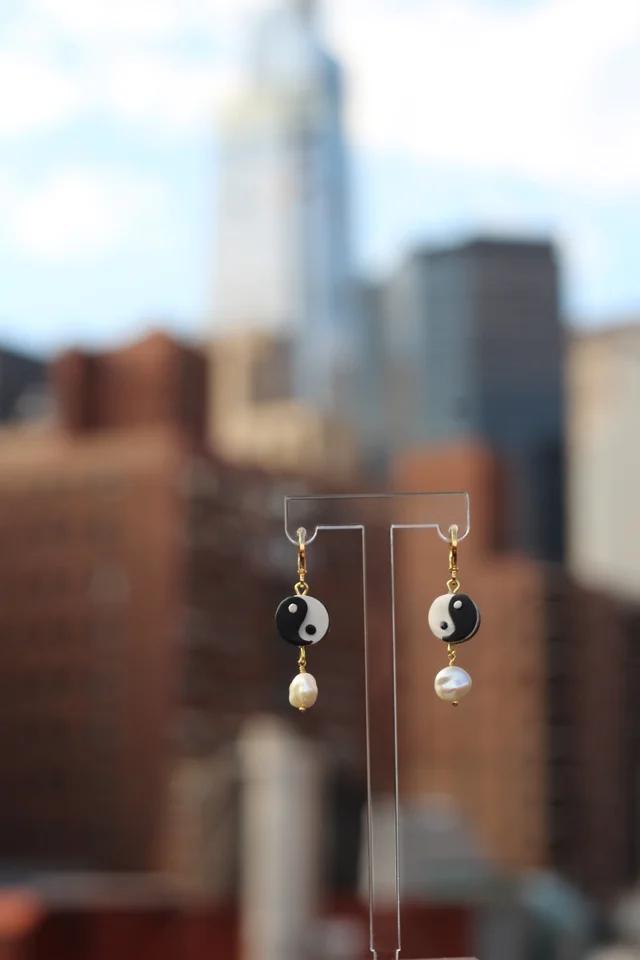 New York Clay Earrings