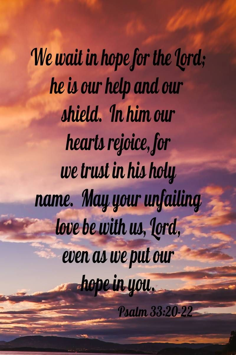 Psalm 33:20-22 Refrigerator Magnet