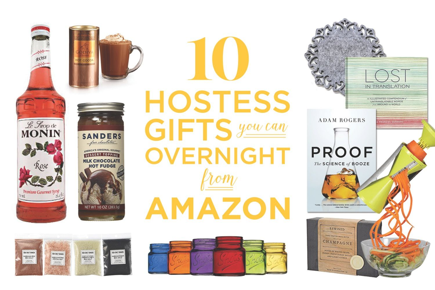 10 Hostess Gifts You Can Overnight From Amazon For 15 Or Less Thanksgiving Shopping