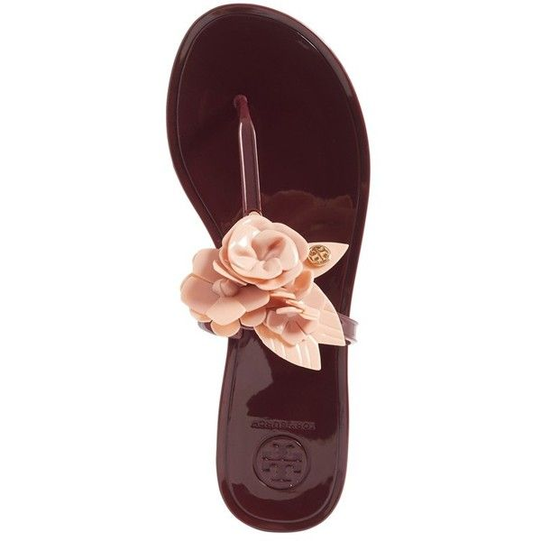 2cdb992bc Women s Tory Burch Blossom Jelly Flip Flop (371.725 COP) ❤ liked on  Polyvore featuring shoes