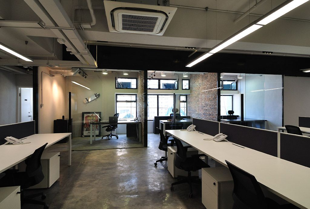 cool raw office design > management offices | industrial office
