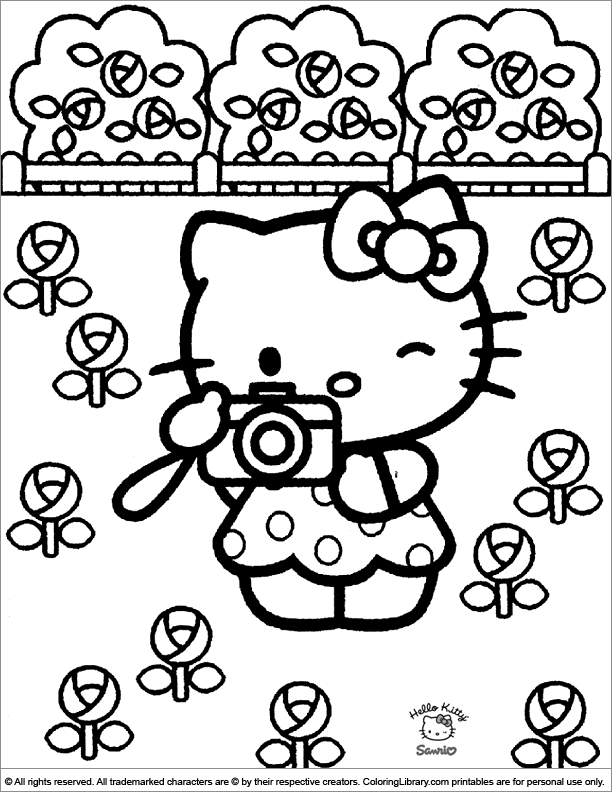 Hello Kitty Coloring Picture Hello Kitty Coloring Hello Kitty Colouring Pages Kitty Coloring