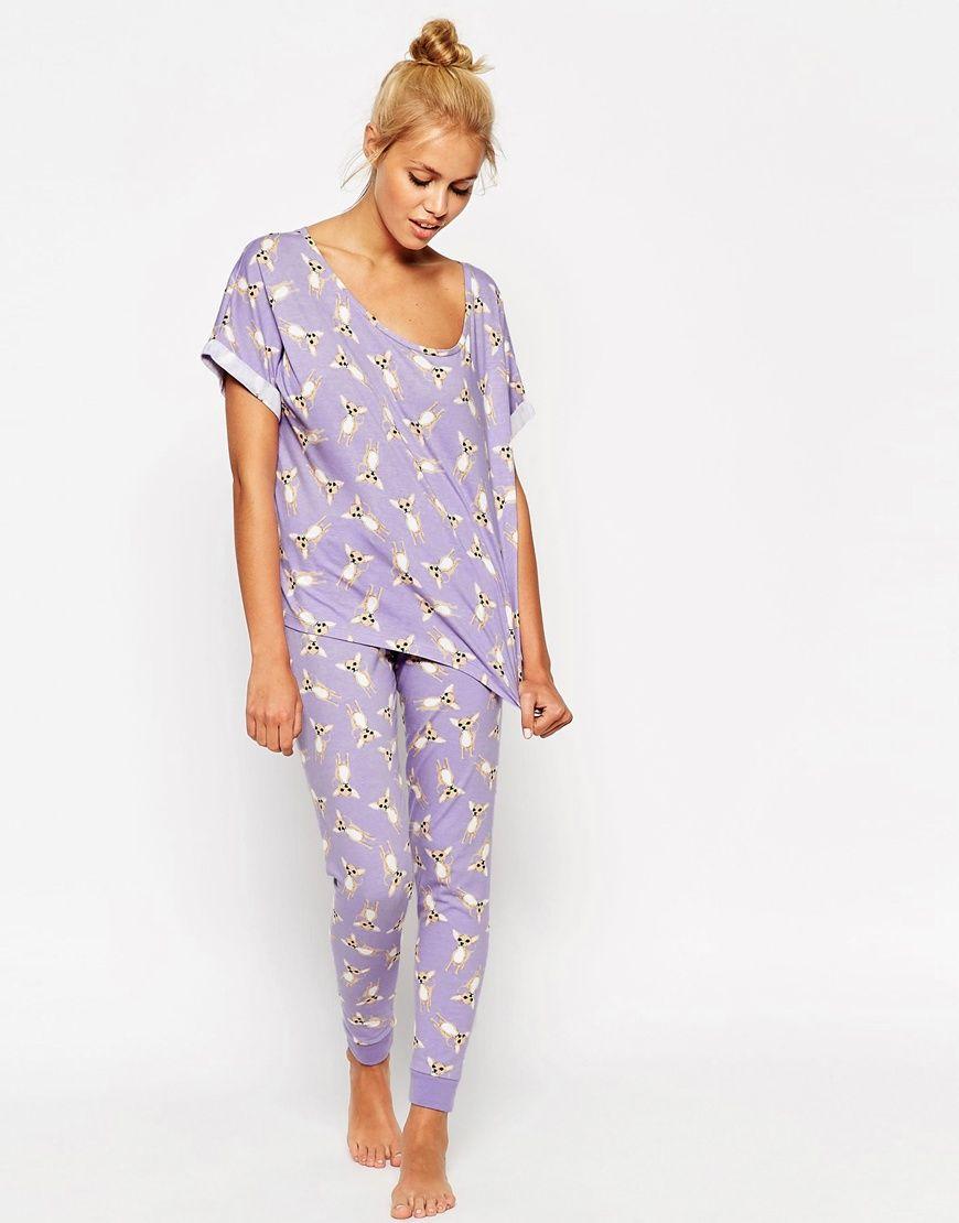 ac34eef844 Chihuahua Print Tee & Legging Pajama Set | J A M M I E S | Pajamas ...