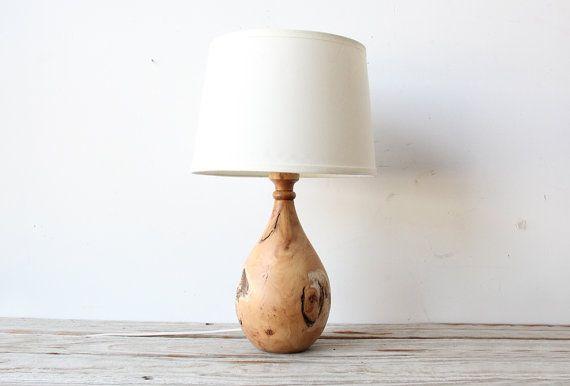 Modern Wood Turned Lamp By Gallivantinggirls On Etsy 150 00 Wooden Lamp Base Lamp Modern Wood