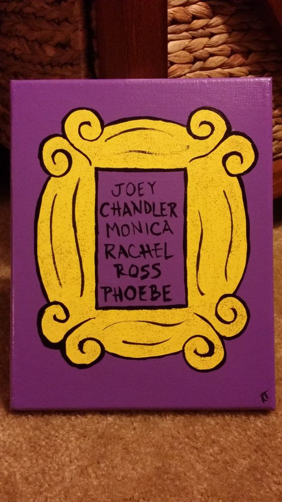 Inspired by FRIENDS TV Show Hand-Painted Canvas - Yellow Picture ...