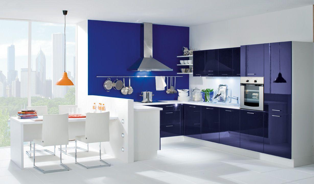 Décoration Cuisine Luna Nova bleu 5890€ (électro inclus) | La ...