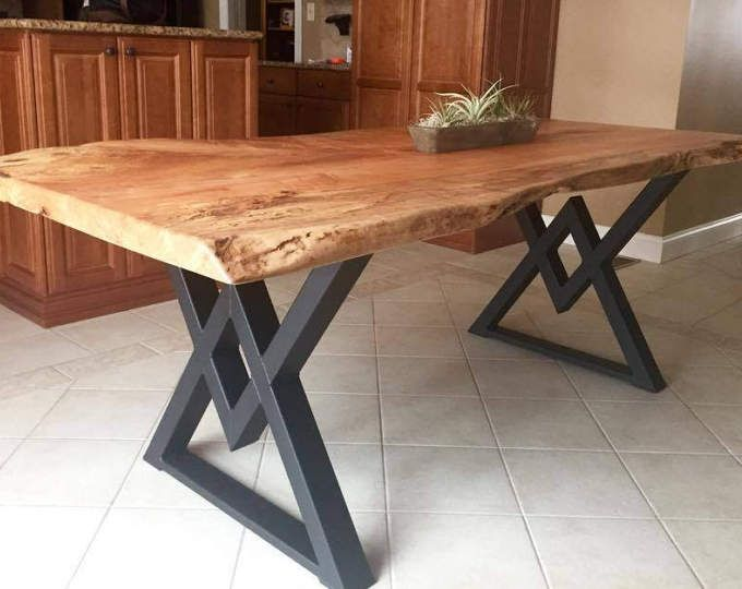 Square Rectangular Modern Dining Table Legs Industrial Legs Etsy