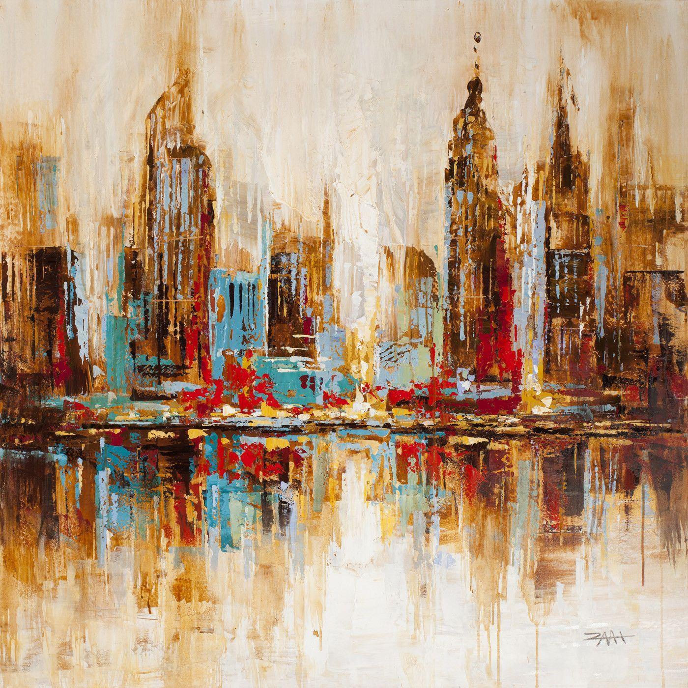 City Shadows Wall Décor Acrylic Painting Canvas