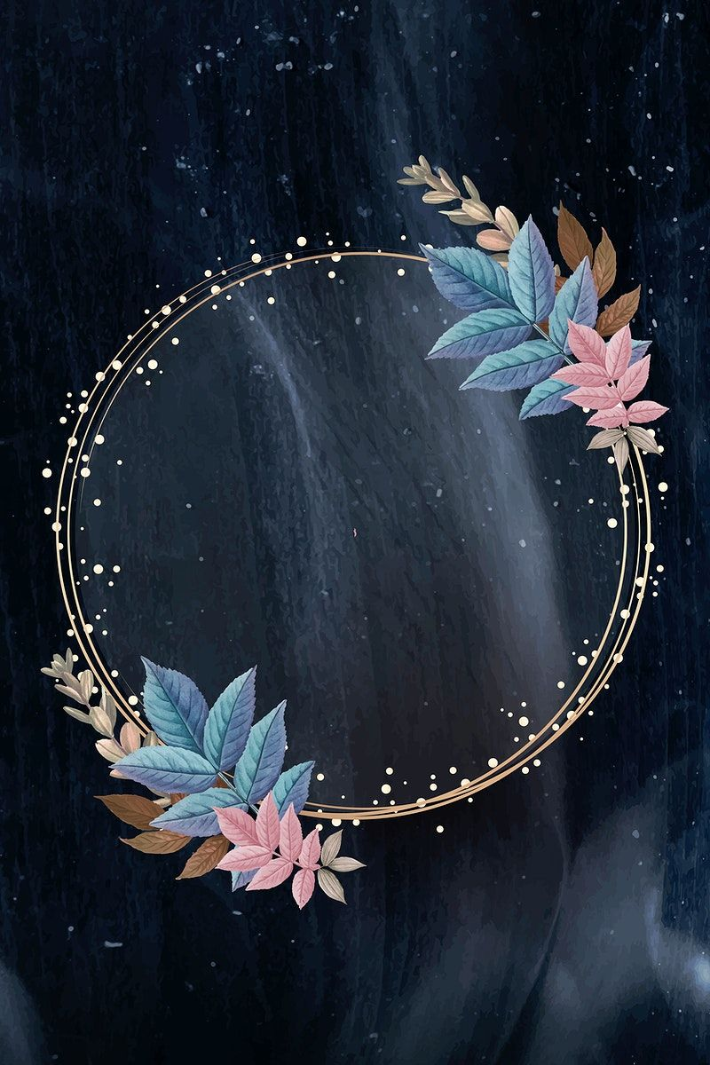 Download premium vector of Golden circle frame decorated with leaves vector by Adjima about Invitations blue free, circular border, background, circle, and background free 593968