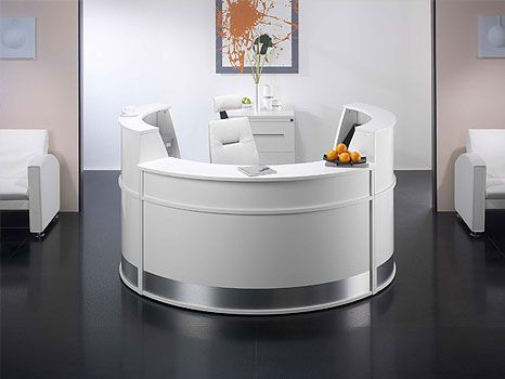 Sleek White Office Furniture Topsdecor Com In 2020 White