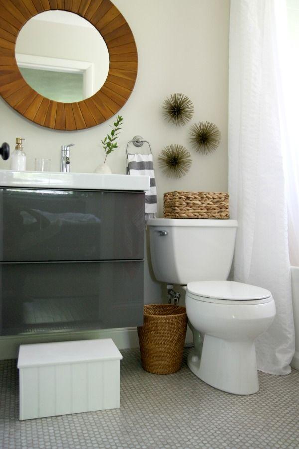 Small Bathroom Waste Bins: Three Sea Urchins, A Trash Can, A Tumbler & A Soap