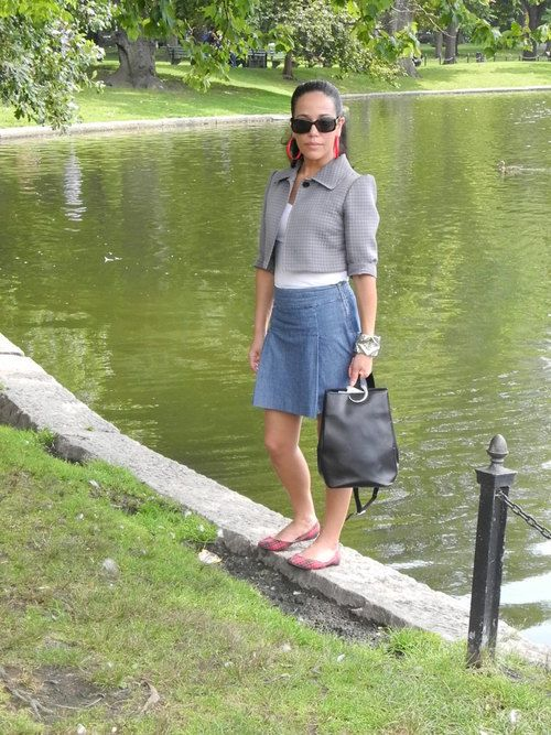 9/9/12 Sunday stroll, featuring recently thrifted Cartier bag!