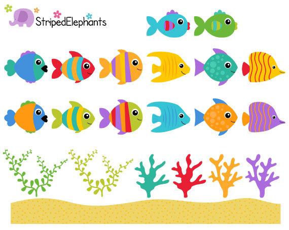 Sea Creatures Clip Art Under The Sea Clipart Ocean Animals Clip Art Instant Download Commercial Use Under The Sea Clipart Sea Clipart Clip Art