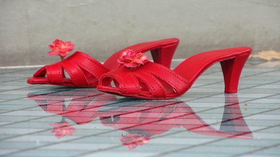 51cf0394cc0 Prent: de rode schoentjes van de Efteling   Thema schoenen   Rode ...