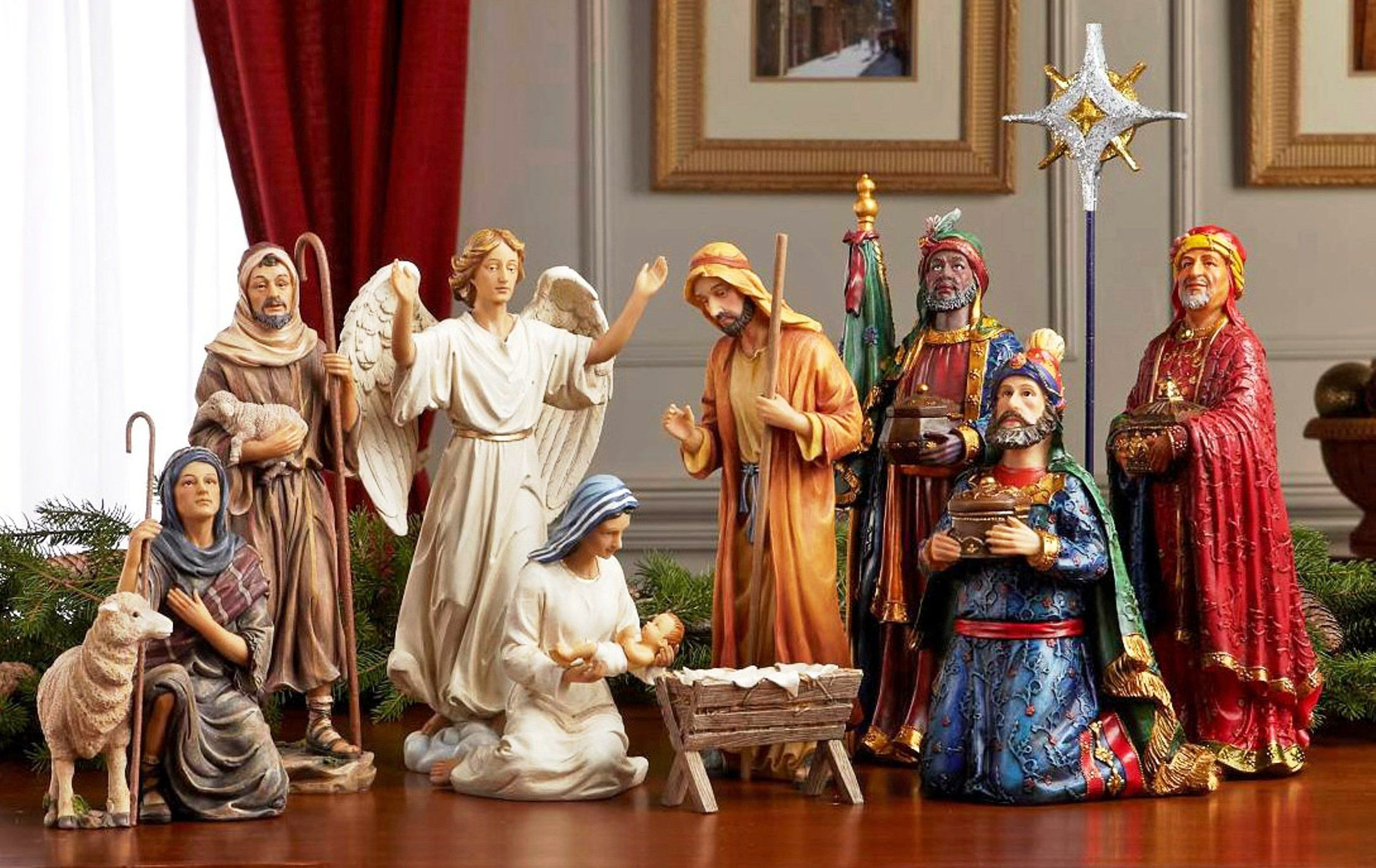 145 Resin Nice Detail Medium Large Size Christmas Nativity Set Full 10 Inch Real Life Nativity Set Christmas Nativity