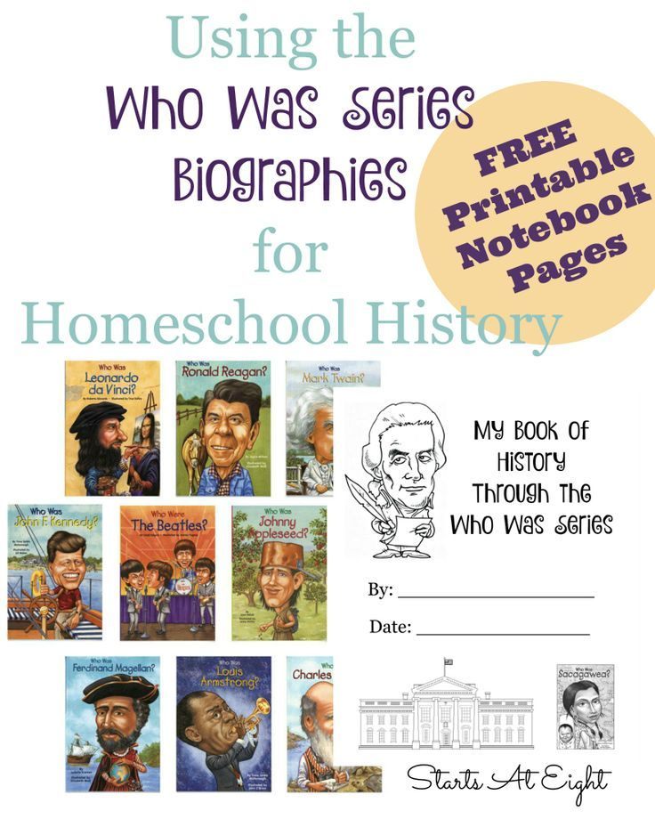 Photo of Using the Who Was Series Biographies for Homeschool History {With FREE Printables}