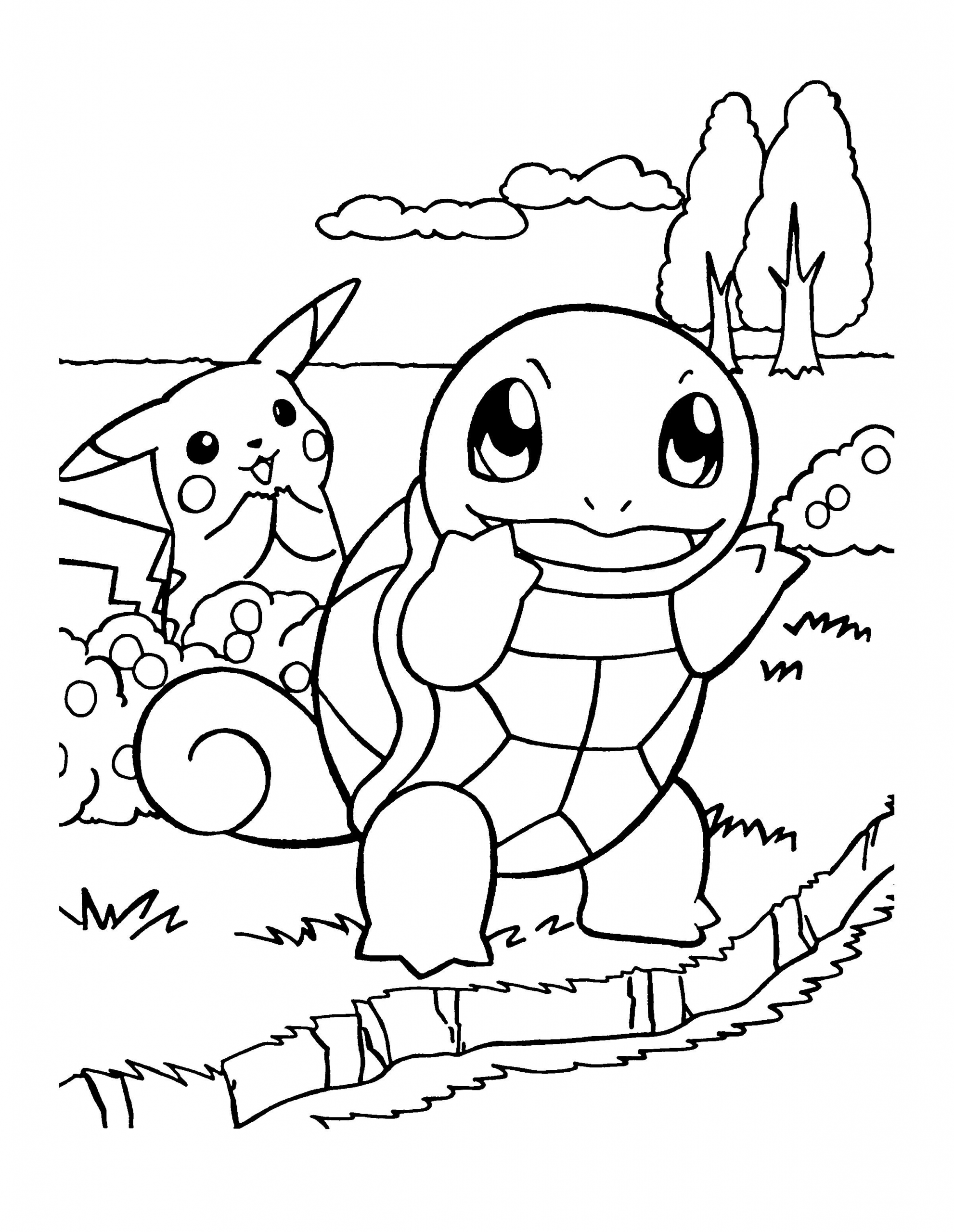 Squirtle Pokemon Coloring Page Youngandtae Com In 2020 Pikachu Coloring Page Pokemon Coloring Pages Cartoon Coloring Pages