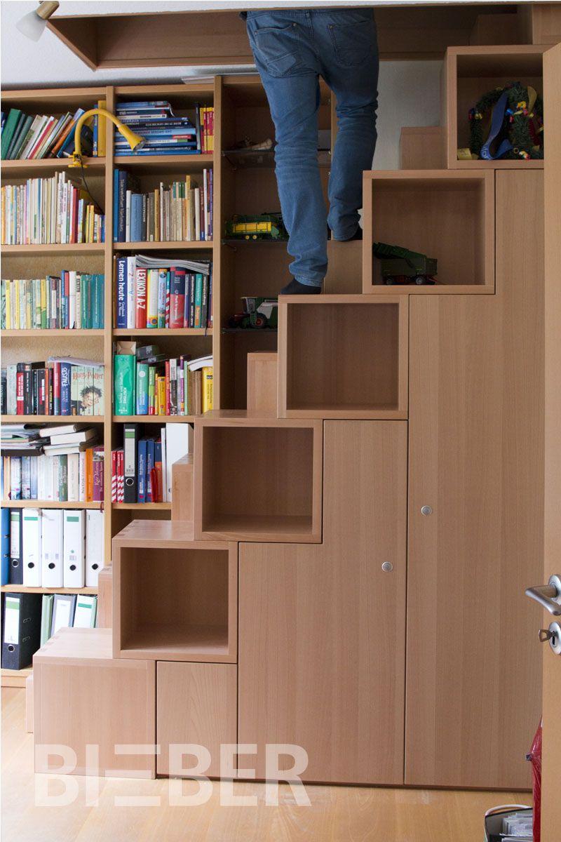 Treppe Mit Mehrfachnutzen Was Tut Man Wenn Man Keine Lukentreppe Zum Aufstieg In Das Dachgeschoss Benutzen Möchte Aber Der Been Schranktüren Treppe Treppenbau