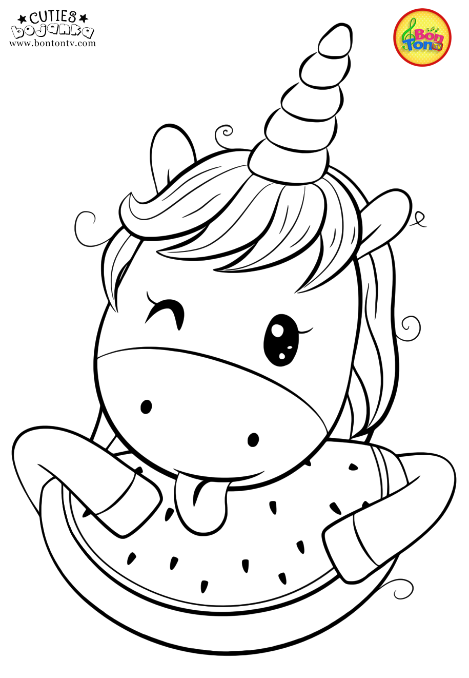 Cuties Coloring Pages For Kids Free Preschool Printables Slatkice Bojanke Cute Animal Unicorn Coloring Pages Free Kids Coloring Pages Cute Coloring Pages