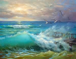 Landscape Paintings By Famous Artists Yahoo Image Search Results Landscape Paintings Ocean Painting Seascape Paintings