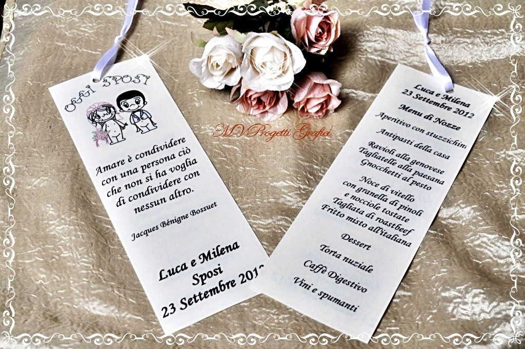 Conosciuto MENU SEGNAPOSTO LOVE IS.., by Progetti Grafici per Matrimoni ed  AO37