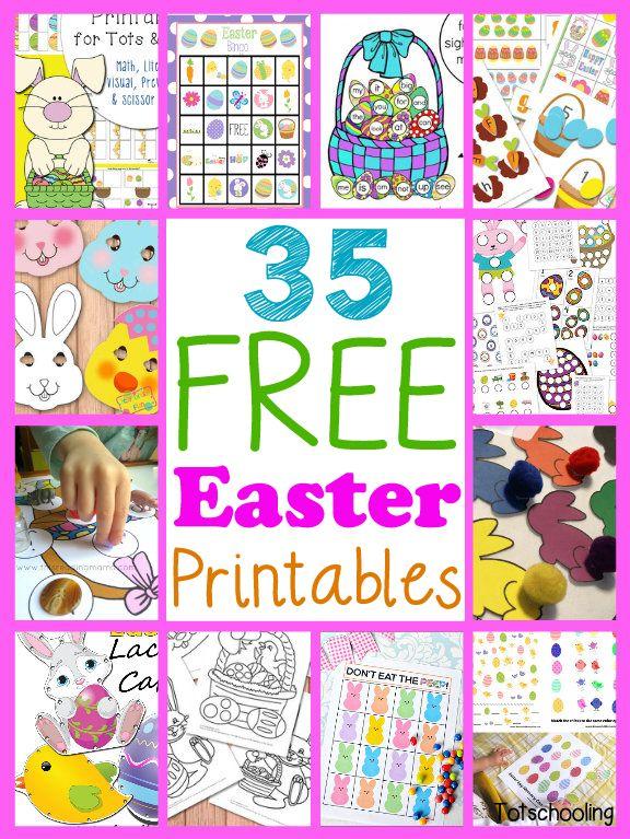 35 Free Easter Printables For Kids Easter Printables Free, Easter School,  Easter Kindergarten
