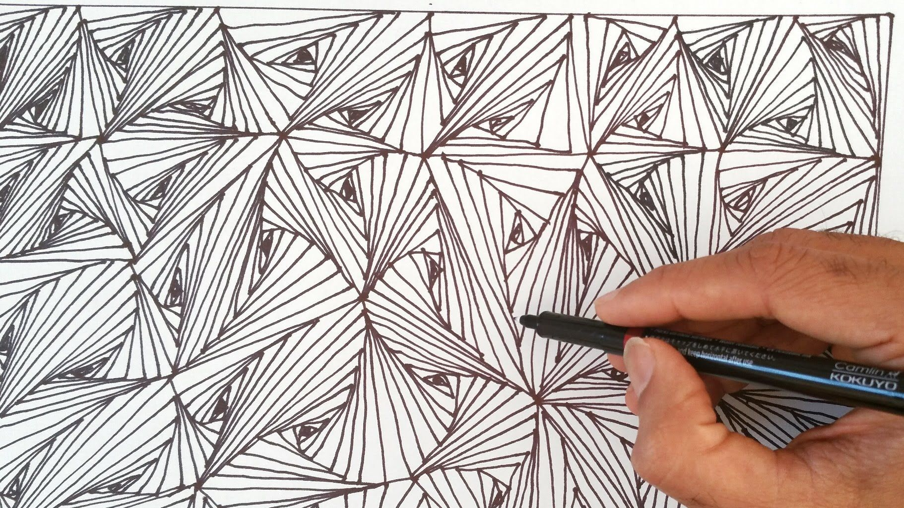 How To Draw Easy Line Optical Illusions Pattern Zentangles