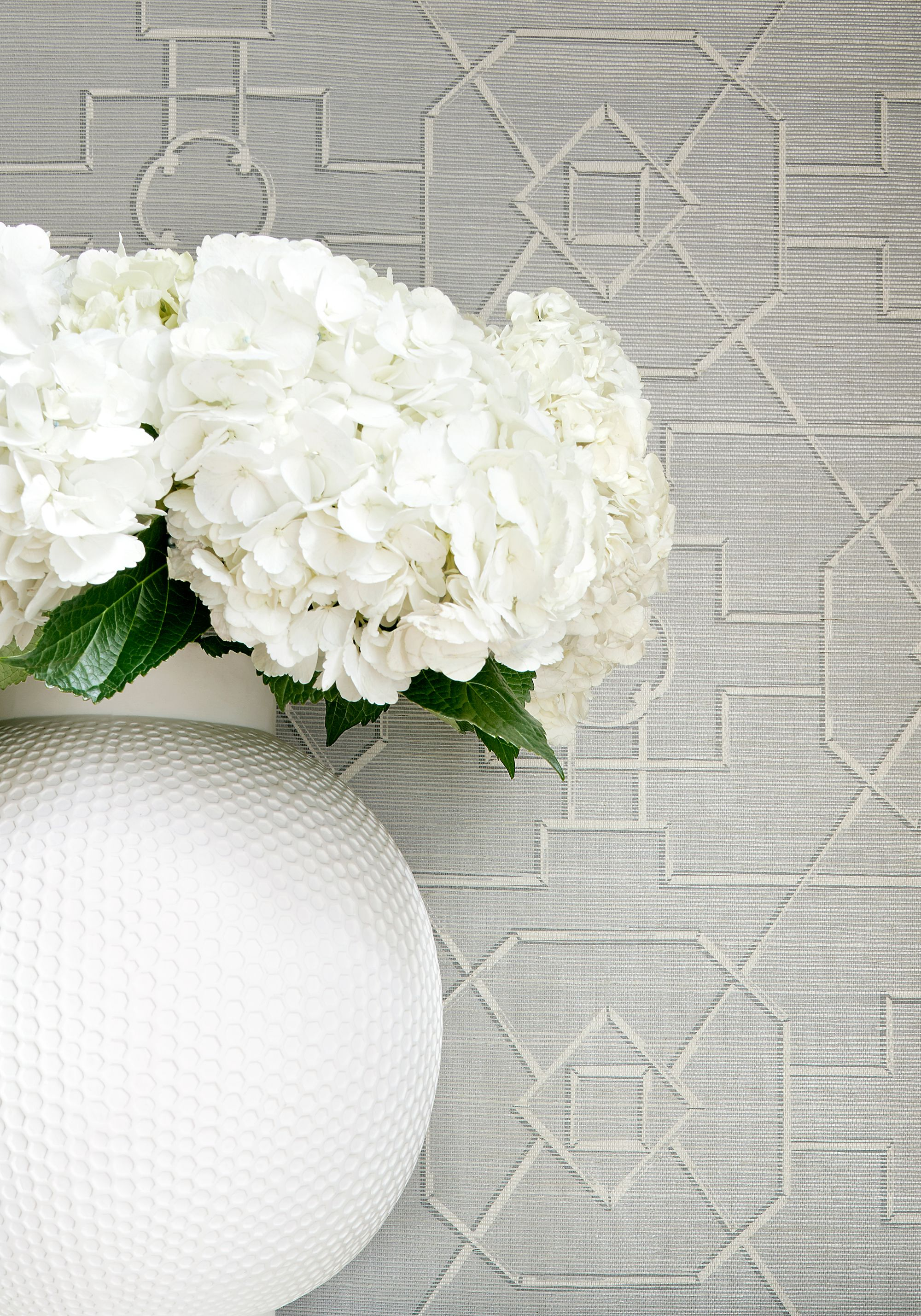 East Gate grasscloth wallpaper in grey from the