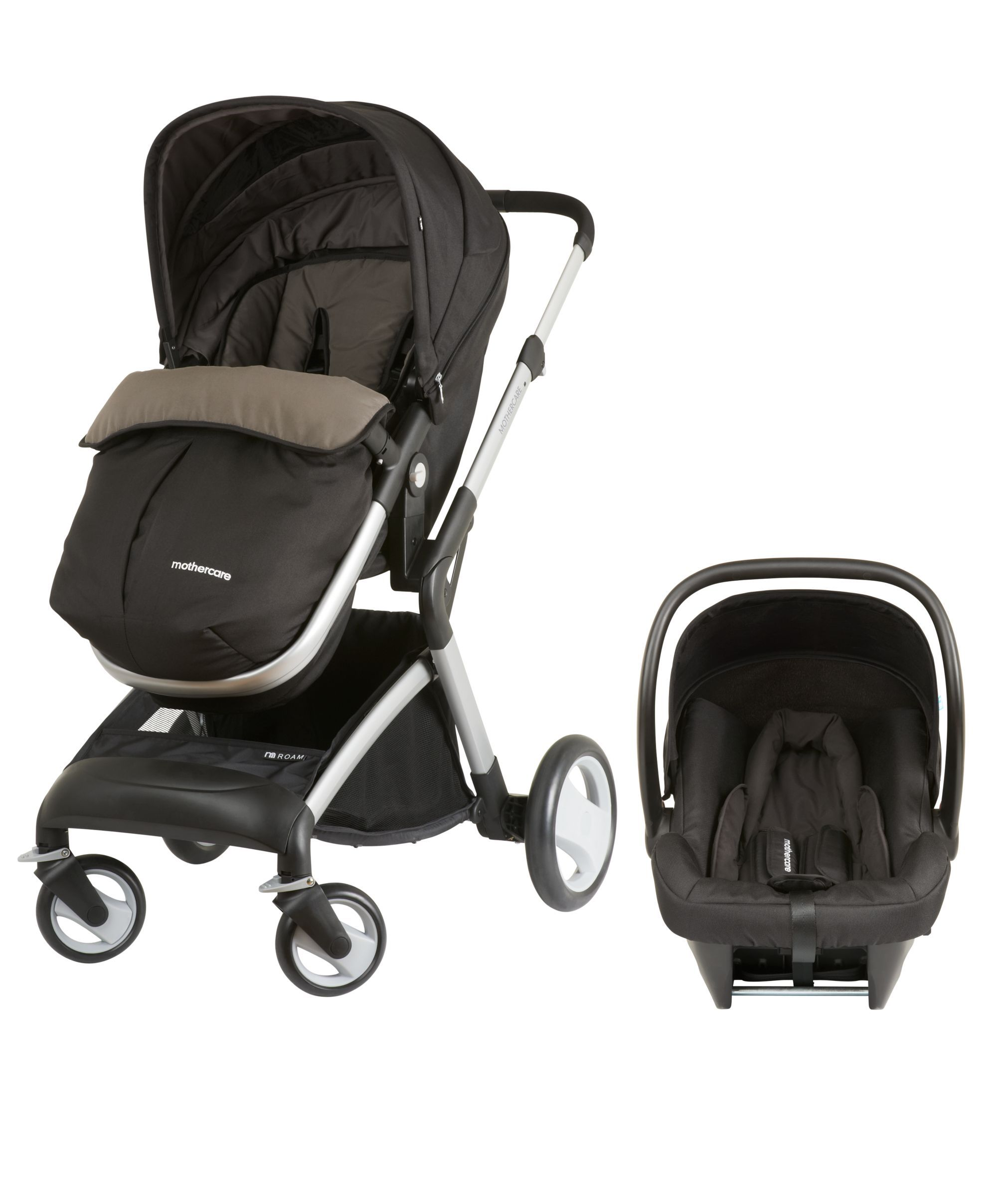 Mothercare Roam Pram & Pushchair Travel System Black