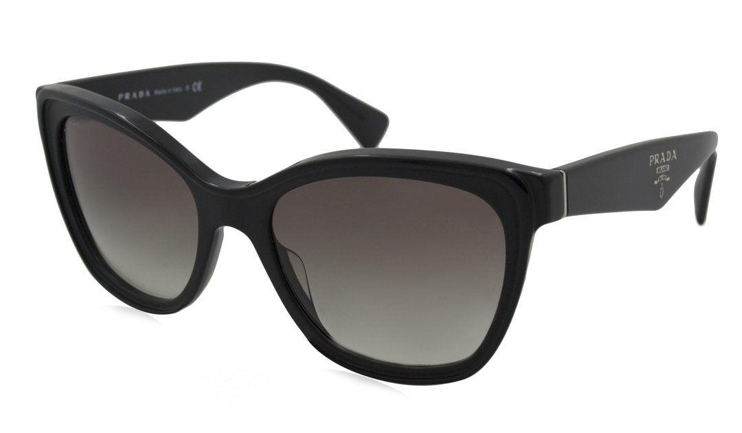 Prada Sunglasses - PR20PSA / Frame: Black Lens: Grey Gradient-PR20PSA1AB0A7. Frame Material: Plastic. Lens Material: Plastic. Lens Width: 56mm. Bridge: 19mm. Arm: 140mm.