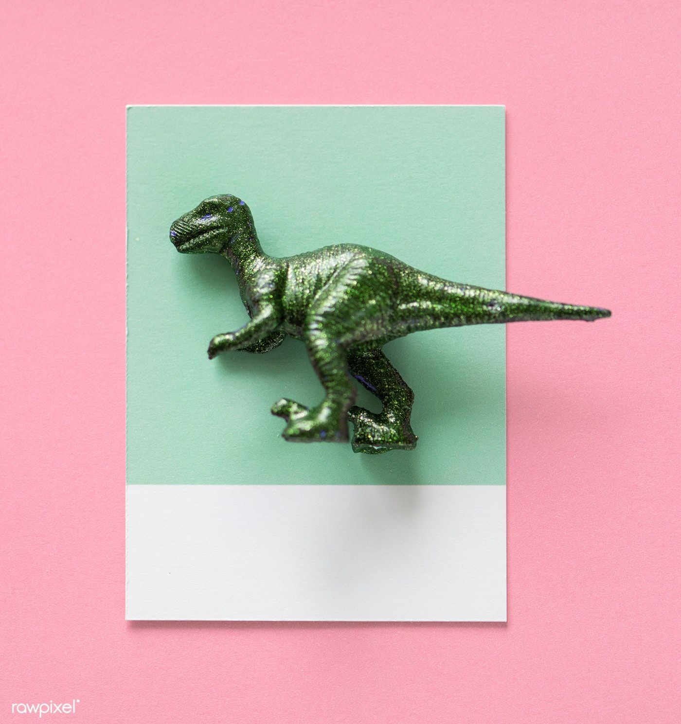 Colorful and cute miniature dinosaur figure free image