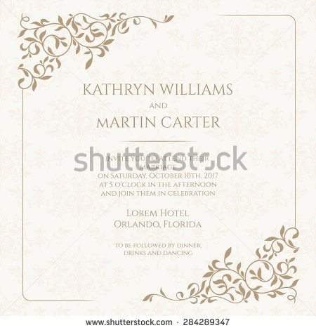 Invitation card with floral seamless pattern wedding invitation invitation card with floral seamless pattern wedding invitation save the date valentines day stopboris Gallery