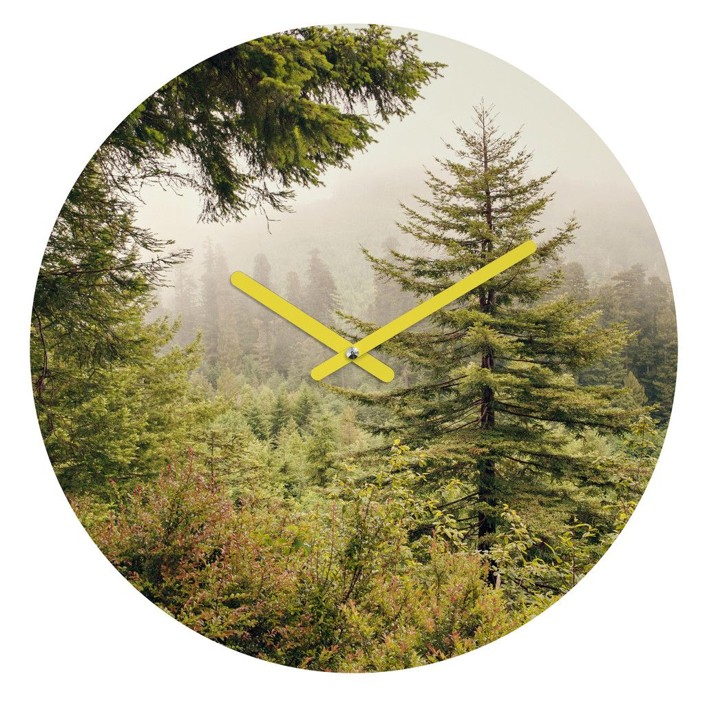 Catherine McDonald Into The Mist Round Clock | DENY Designs Home Accessories