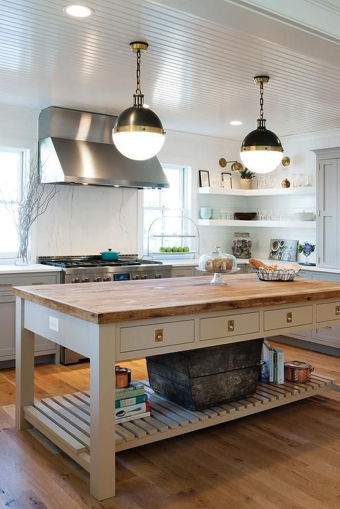 Kitchen With Freestanding Kitchen Block Pictures Ideas To Inspire Your Kitchen Plannin In 2020 Freestanding Kitchen Freestanding Kitchen Island Kitchen Island Table