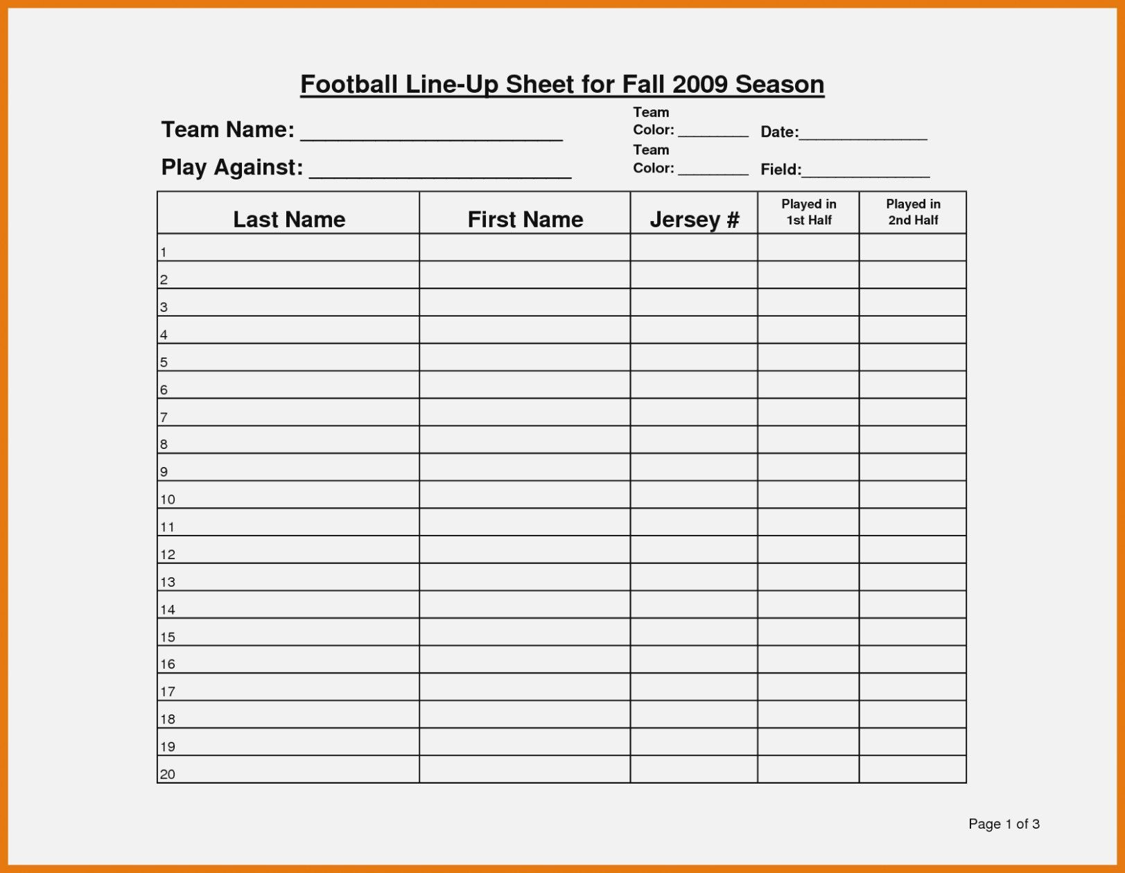 photograph regarding Fantasy Football Roster Sheets Printable identified as Contemporary Blank Roster Sheet #exceltemplate #xls #xlstemplate