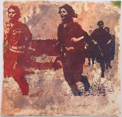 Nancy Spero, Israeli Women Soldiers, c.1966-1870    ettc.net