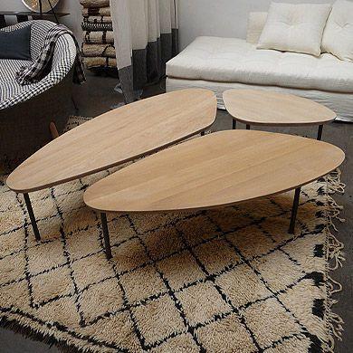 Contemporary Coffee Table In Solid Wood Yomi Caravane Salontafel Koffietafel Interieur