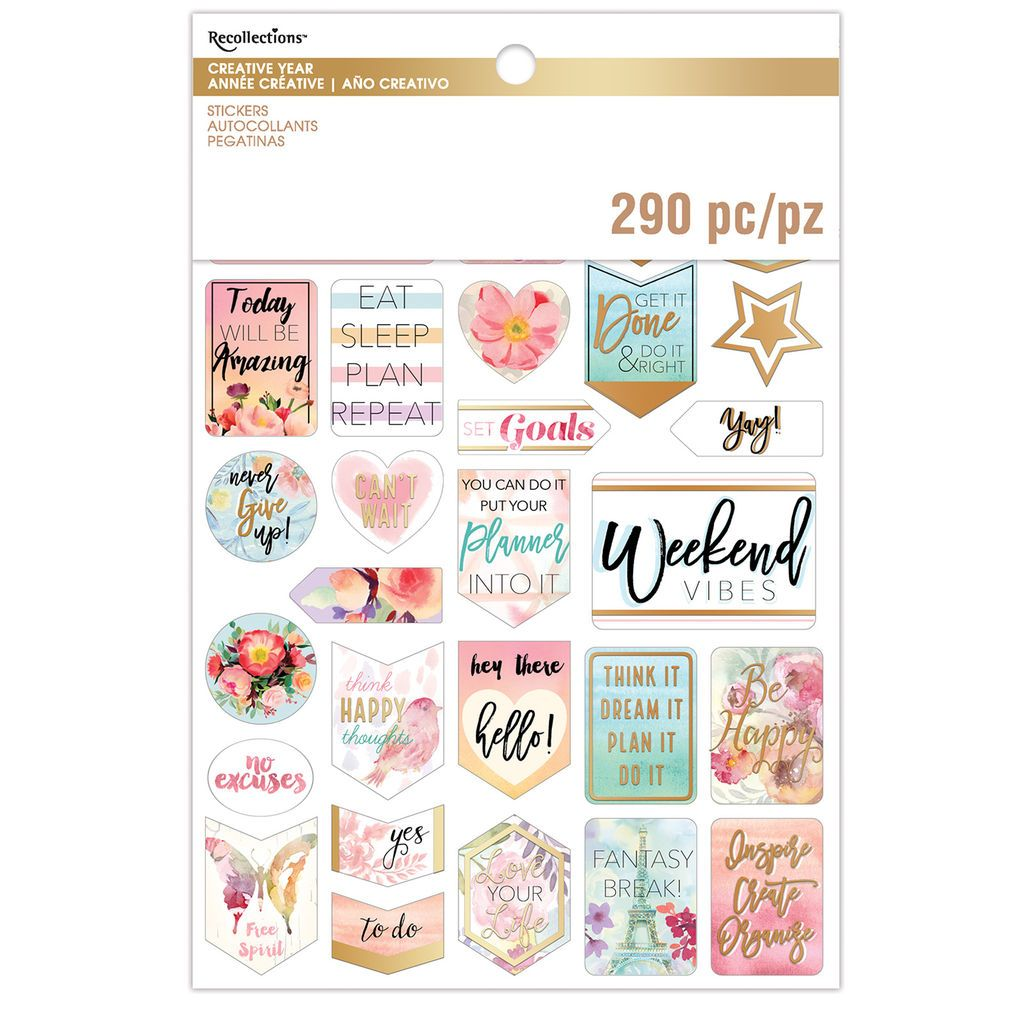 Purchase The Creative Year Watercolor Sticker Book By