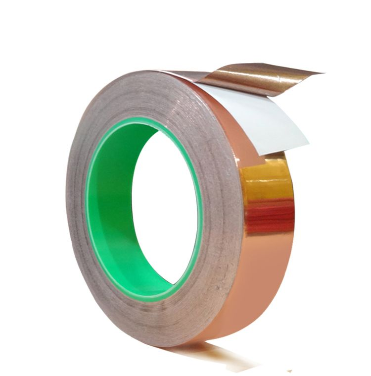 20mm 20m One Side Copper Foil Tape Emi Shielding Single Conductive Adhesive For Guitar Copper Foil Tape Foil Tape Copper Foil