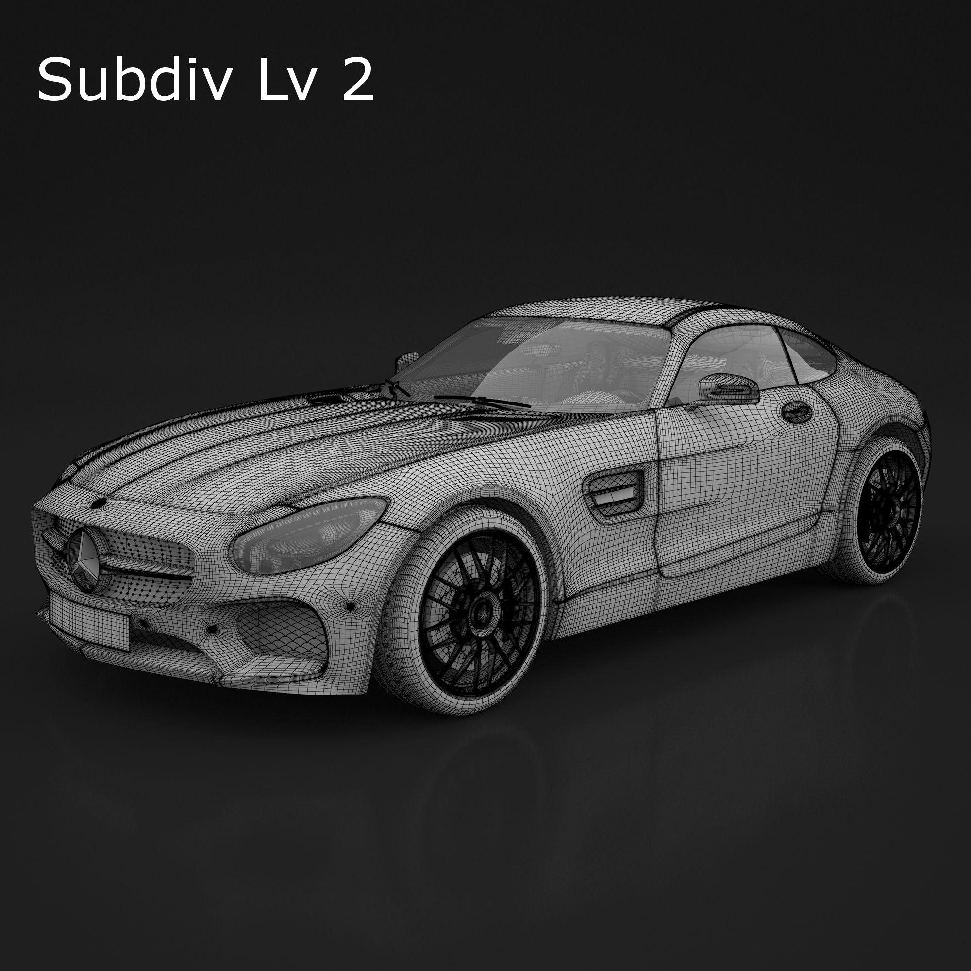 4182f35f36c 3D Model Mercedes AMG GTS 2016 | fbx obj max - 3D Squirrel | cars ...