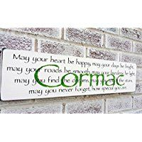 Irish Blessing For Baby Nursery Personalized Name Sign