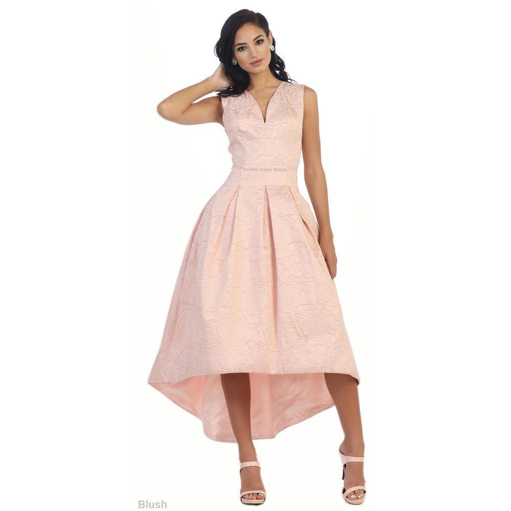 Designer sale floral pattern high low vintage look like dress below